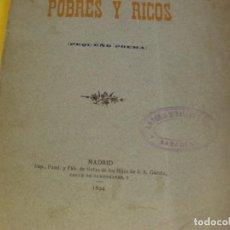 Libros de segunda mano: POBRES Y RICOS. Lote 124473263