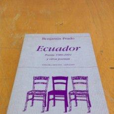 Libros de segunda mano: ECUADOR: POESIA 1986-2001 Y OTROS POEMAS. BENJAMIN PRADO. HIPERIÓN. Lote 124526199