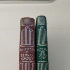 Libros de segunda mano: LOTE 2 LIBROS CRISOL. LA LEYENDA DE FERNAN GONZÁLEZ Y POEMA DE MIO CID. Lote 125187751