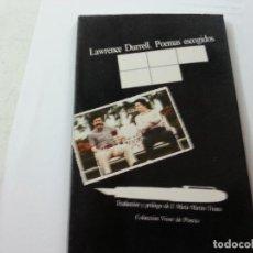 Libros de segunda mano: LAWRENCE DURRELL: POEMAS ESCOGIDOS (VISOR, 1982)-CCC.. Lote 125320295