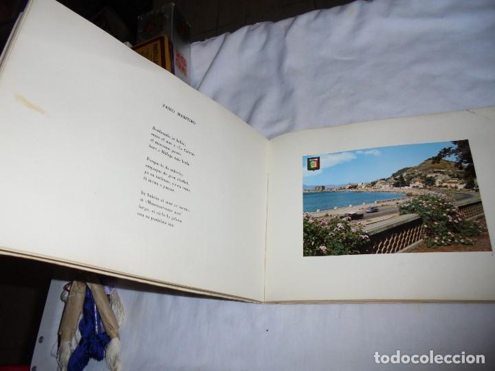 Libros de segunda mano: POSTALES MALAGUEÑAS.ALBUM CON POESIA.ORIGINAL DE JULIA ROMERO PORRAS.MALAGA 1970 - Foto 7 - 125450191
