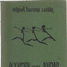 Libros de segunda mano: MIGUEL LUESMA CASTÁN: ACORDES PARA ANDAR POR UN PLANETA VIVO. (AGRUPACIÓN ARTÍSTICA ARAGONESA, 1979). Lote 125905899