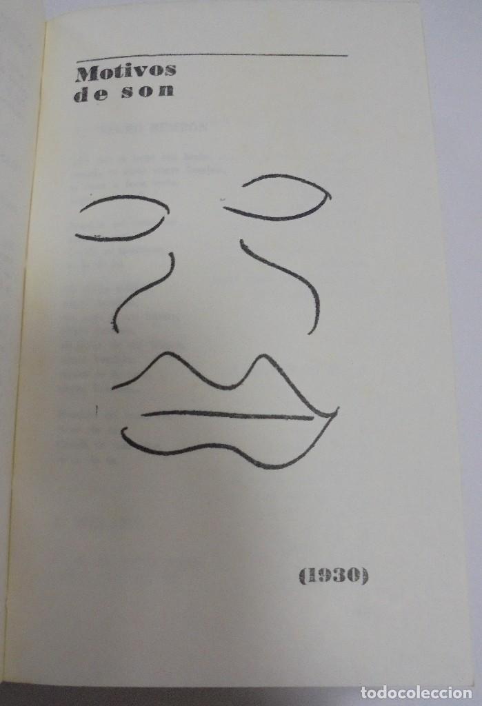 Libros de segunda mano: NICOLAS GUILLEN. OBRA POETICA. 1920 - 1958. DEDICATORIA. 2º EDICION. BOLSILIBROS UNION. 558 PAG. VER - Foto 7 - 126234451