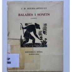 Libros de segunda mano: BALADES I SONETS. POEMES. Lote 126975612