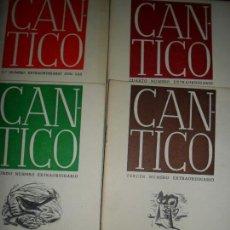 Libros de segunda mano: CÁNTICO, 4 PRIMEROS NÚMEROS EXTRAORDINARIOS, EDICIÓN FACSÍMIL. Lote 126992391