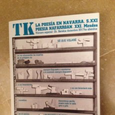 Libros de segunda mano: TK LA POESÍA EN NAVARRA. S. XXI POESIA NAFARROAN. XXI. MENDEA. Lote 127011786