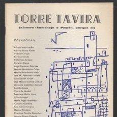 Libros de segunda mano: TORRE TAVIRA. CADIZ, SEPTIEMBRE DE 1978. NUMERO HOMENAJE A PEMAN. - A-POE-1726. Lote 140479065