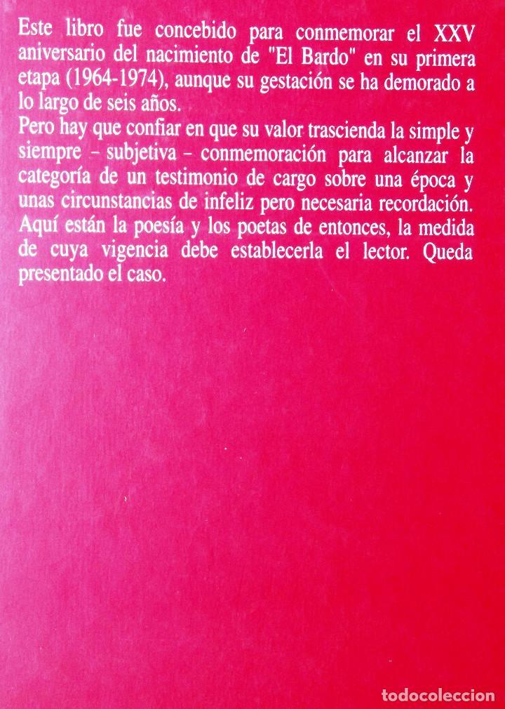 Libros de segunda mano: El bardo (1964-1974) Memoria y Antología. José Batlló. - Foto 2 - 127919223