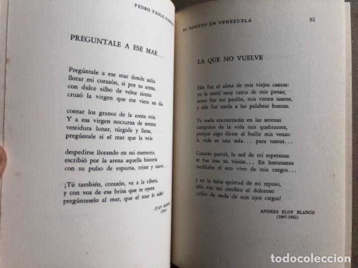 Libros de segunda mano: EL SONETO DE VENEZUELA, POR PEDRO PABLO PAREDES. ED. BIBLIOTECA POPULAR VENEZOLANA, 1962. - Foto 4 - 128518195