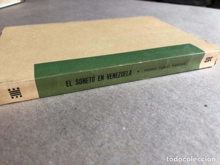 Libros de segunda mano: EL SONETO DE VENEZUELA, POR PEDRO PABLO PAREDES. ED. BIBLIOTECA POPULAR VENEZOLANA, 1962. - Foto 5 - 128518195