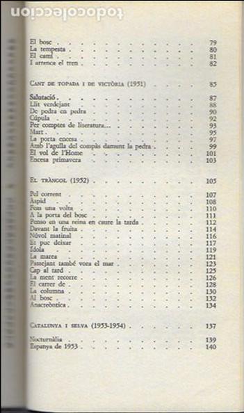 Libros de segunda mano: Poesia rasa, I 1950-1955 / Joan Brossa; Introd. Manuel Sacristán. BCN : Ed.62, 1990. 20x12cm. 245 p. - Foto 4 - 128661711