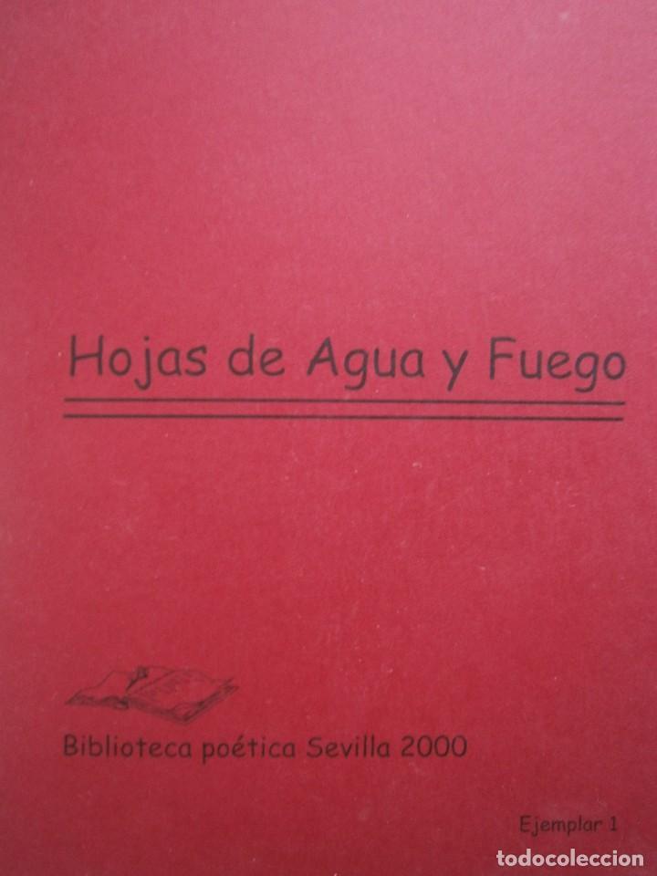 HOJAS DE AGUA Y FUEGO BIBLIOTECA POETICA SEVILLA 2000 ESTHER DE PAZ VICENTE FONSECA JUAN OROZCO (Libros de Segunda Mano (posteriores a 1936) - Literatura - Poesía)