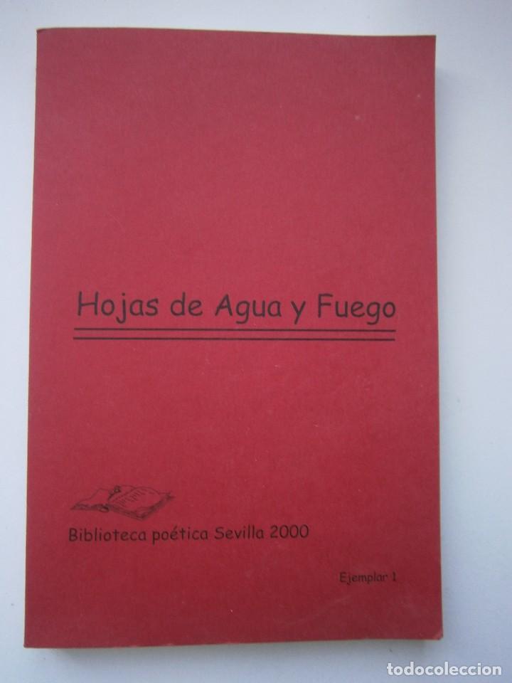 Libros de segunda mano: HOJAS DE AGUA Y FUEGO Biblioteca poetica Sevilla 2000 Esther de Paz Vicente Fonseca Juan Orozco - Foto 2 - 128884627
