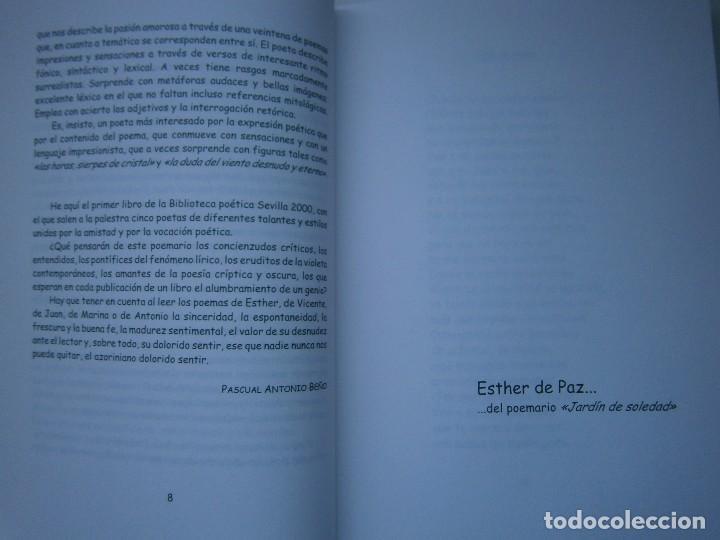 Libros de segunda mano: HOJAS DE AGUA Y FUEGO Biblioteca poetica Sevilla 2000 Esther de Paz Vicente Fonseca Juan Orozco - Foto 7 - 128884627
