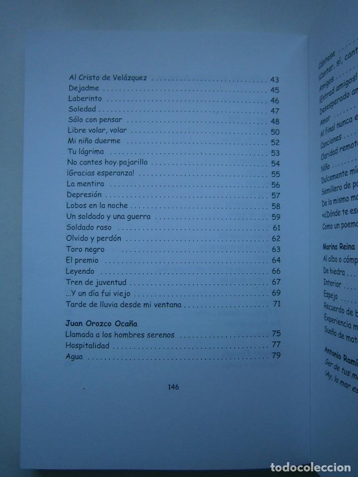 Libros de segunda mano: HOJAS DE AGUA Y FUEGO Biblioteca poetica Sevilla 2000 Esther de Paz Vicente Fonseca Juan Orozco - Foto 9 - 128884627