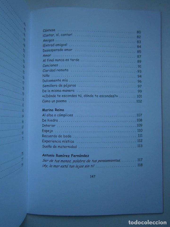 Libros de segunda mano: HOJAS DE AGUA Y FUEGO Biblioteca poetica Sevilla 2000 Esther de Paz Vicente Fonseca Juan Orozco - Foto 10 - 128884627