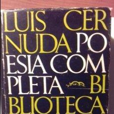 Libros de segunda mano: POESIA COMPLETA. LUIS CERNUDA. Lote 130097555