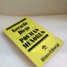 Libros de segunda mano: POEMAS MENORES. GERARDO DIEGO ALIANZA. Lote 130505566