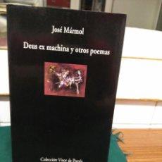Libros de segunda mano: JOSE MARMOL, DEUS EX MACHINA ... VISOR 2001. Lote 130735108