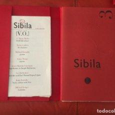 Libros de segunda mano: SIBILA EDICION ORIGINAL Y LIMITADA A 55 EJEMPLARES , LIBRO CON CD. NUMERO 3 , POESIA. Lote 131410434