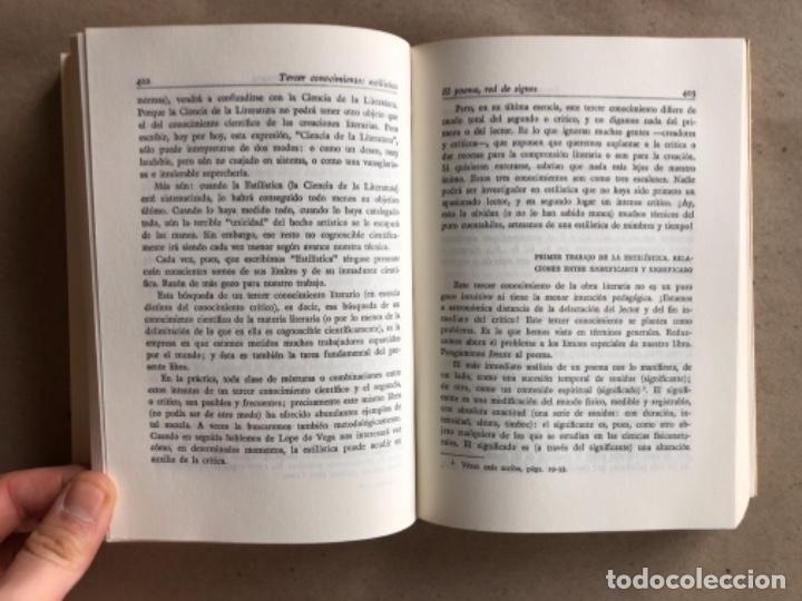 Libros de segunda mano: POESÍA ESPAÑOLA, ENSAYO DE MÉTODOS Y LÍMITES ESTILÍSTICOS. DÁMASO ALONSO. ED. GREDOS 1981. - Foto 5 - 131847514