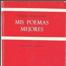 Libros de segunda mano: V. ALEIXANDRE : MIS MEJORES POEMAS. (ED. GREDOS, BIBLIOTECA ROMÁNICA HISPÁNICA, 4ª EDICIÓN, 1976). Lote 132100250