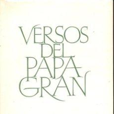 Libros de segunda mano: RAMON ALBANELL PUJOL : VERSOS DEL PAPA GRAN (1965) EN CATALÁN. Lote 132672126