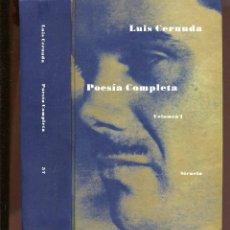 Libros de segunda mano: LUIS CERNUDA. POESÍA COMPLETA.1 VOL. ED. SIRUELA 1999. TAPA DURA. 870 PAG.. Lote 133608474