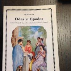 Libros de segunda mano: ODAS Y EPODOS HORACIO CATEDRA Nº140 NUEVO. Lote 134095582