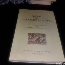 Libros de segunda mano: POESIAS DE HERNANDO DE ACUÑA. Lote 134120958