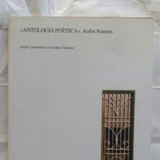 Libros de segunda mano: ANTOLOGIA POÈTICA. ANFÓS RAMON.. Lote 236250430