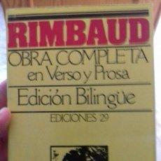 Libros de segunda mano: RIMBAUD- OBRA COMPLETA EN VERSO Y PROSA. Lote 136697234