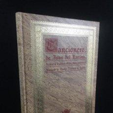 Libros de segunda mano: CANCIONERO JUAN DEL ENCINA EDICIÓN RAE 1989 FACSIMIL DE PRIMERA EDICIÓN . Lote 136784458