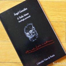 Libros de segunda mano: ÁNGEL GONZÁLEZ - A TODO AMOR - ANTOLOGÍA PERSONAL - COLECCIÓN VISOR DE POESÍA - MADRID 1997. Lote 136818186