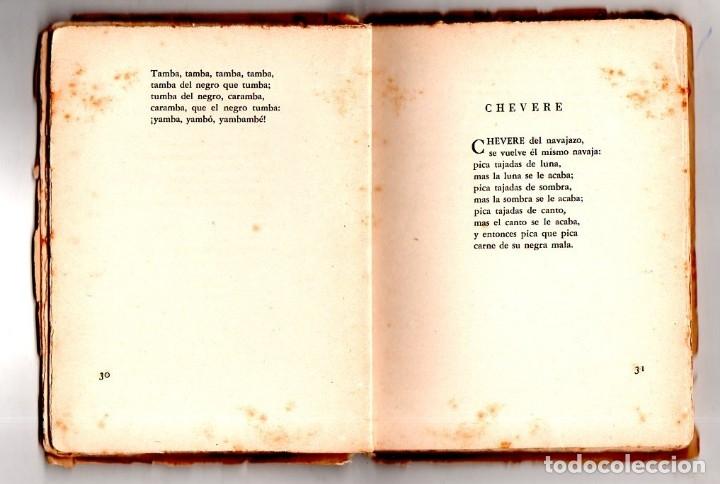 Libros de segunda mano: SÓNGORO COSONGO Y OTROS POEMAS. NICOLAS GUILLEN. DEDICADO Y FIRMADO POR EL AUTOR. 1942. LEER. - Foto 7 - 137282030