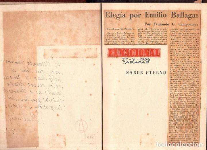 Libros de segunda mano: SABOR ETERNO. POEMAS. EMILIO BALLAGAS. LA HABANA, 1939. CON DEDICATORIA Y FIRMA DEL AUTOR. LEER. - Foto 5 - 137393794