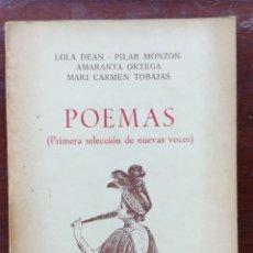 Libros de segunda mano: POEMAS PRIMERA SELECCIÓN DE NUEVAS VOCES. EDICIONES TORREMOZAS. Lote 137412945