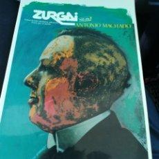 Libros de segunda mano: ANTONIO MACHADO, ESPECIAL REVISTA ZURGAI, JULIO DE 1989.DEPARTAMENTO DE CULTURA. Lote 137417549