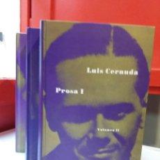 Libros de segunda mano: LUIS CERNUDA - OBRAS COMPLETAS (3 TOMOS) - SIRUELA 1993-1994. Lote 160483897