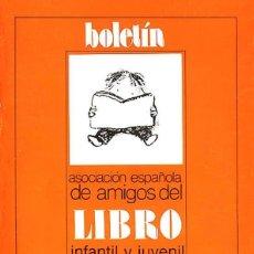 Libros de segunda mano: BOLETÍN ASOCIACIÓN ESPAÑOLA DE AMIGOS DEL LIBRO INFANTIL Y JUVENIL (14 NÚMEROS 1989-1996)). Lote 76094357