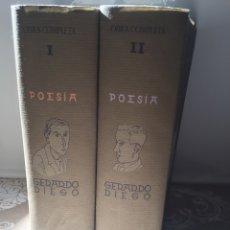 Libros de segunda mano: GERARDO DIEGO. EDITORIAL AGUILAR 2 TOMOS. Lote 138766820