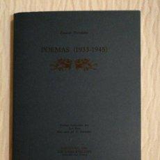 Libros de segunda mano: POEMAS (1933-1945) PREVELAKIS, PANDELÍS EDITORIAL: KYKLADES AÑO: 1986. Lote 138888090