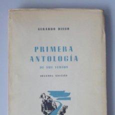 Libros de segunda mano: GERARDO DIEGO // PRIMERA ANTOLOGÍA DE SUS VERSOS // 1941 // INTONSO. Lote 138954162