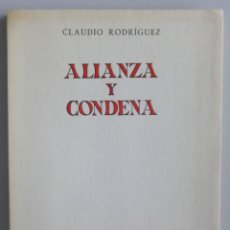 Libros de segunda mano: CLAUDIO RODRIGUEZ // ALIANZA Y CONDENA // 1965 // PRIMERA EDICIÓN // REVISTA DE OCCIDENTE // INTONSO. Lote 138988510