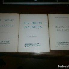 Libros de segunda mano: DIEZ POETAS ESPAÑOLES, DIEZ POETAS GALLEGOS, OCHO POEMAS DE ALEIXANDRE - 1955 JULIO HERRERA REISSIG. Lote 139003146