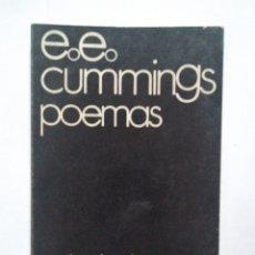 Libros de segunda mano: E.E. CUMMINGS - POEMAS. INTRODUCCIÓN, SELECCIÓN Y TRADUCCIÓN DE ALFONSO CANALES. VISOR 1969. Lote 139201370