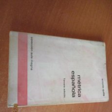Libros de segunda mano: MÉTRICA ESPAÑOLA ANTONIO QUILIS EDICIONES ALCALÁ 3ª EDICION 1975. Lote 111559883