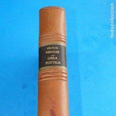 Libros de segunda mano: OBRA POÉTICA.- CECÍLIA MEIRELES . Lote 140473242