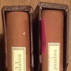 Libros de segunda mano: POESÍA Y PALABRA - EUSEBIO LEAL SPENGLER VOL I Y II - ILUSTRADO. Lote 141900730