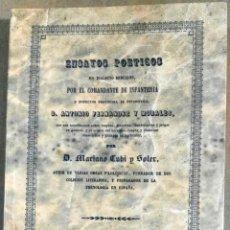 Libros de segunda mano: ENSAYOS POÉTICOS EN DIALECTO BERCIANO POR EL COMANDANTE DE INFANTERÍA... D. ANTONIO FERNÁNDEZ MORALE. Lote 142261170